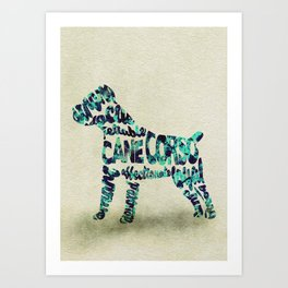 The Cane Corso Typography Art / Watercolor Painting Art Print