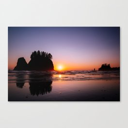 Sunset at Second Beach Canvas Print