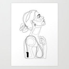 B Color Beauty Art Print
