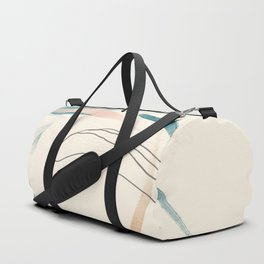 Abstract Lines On Cream. Duffle Bag