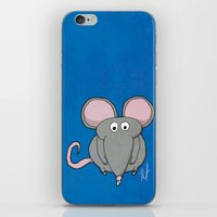 mouse iPhone & iPod Skins featuring Mouse by Rafael Martinez