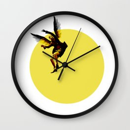 Icarian Fall#3: TheSunThatMelted Wall Clock