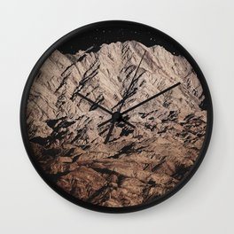dark mountains. night photography. Wall Clock