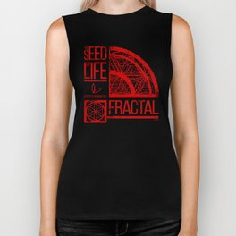 Sacred Geometry-The Seed of life-FRACTAL Biker Tank