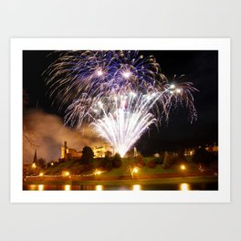 Castle Illuminations Inverness Scotland Art Print