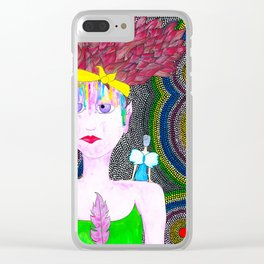 She Started To Know Herself Clear iPhone Case