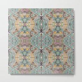 Sophisticated Intense Pattern Metal Print