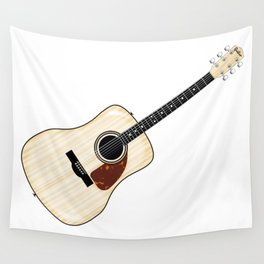 Pale Acoustic Guitar Wall Tapestry