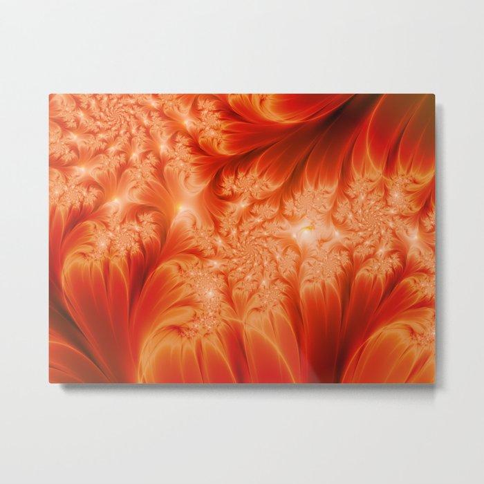 Fractal The Heat of the Sun Metal Print