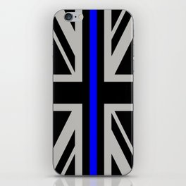 Police: British Flag & The Thin Blue Line iPhone Skin