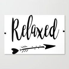 Relaxed Lettering-PM coll Canvas Print