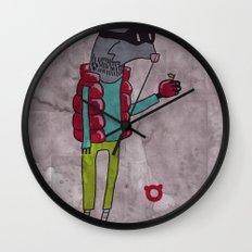 006_raccoon Wall Clock