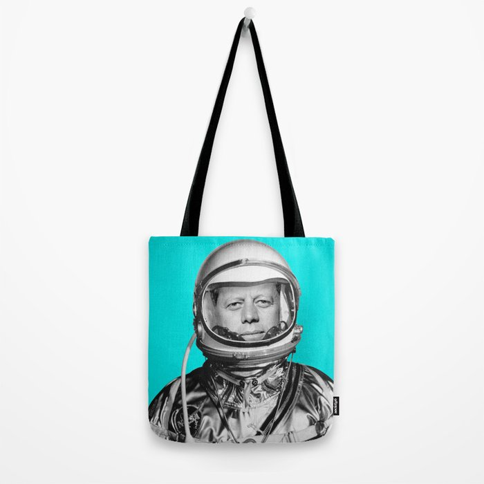 """JFK ASTRONAUT (or """"All Systems Are JFK"""") Tote Bag"""