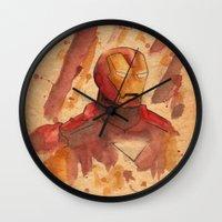 metal Wall Clocks featuring Metal by Sarah J
