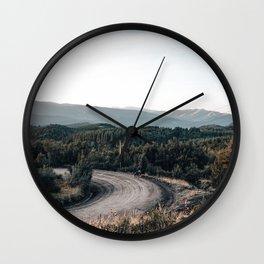 road to Cerro chapelco Wall Clock