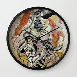 hedgehog girl Wall Clock
