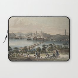 Vintage Pictorial Map of Boston MA (1866) Laptop Sleeve