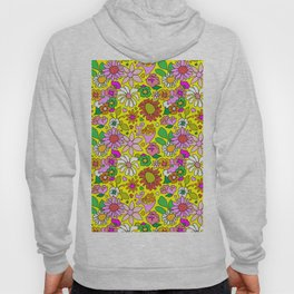 60's Lovers Floral in Sunshine Yellow Hoody