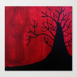 Red and Black Tree 1. Canvas Print