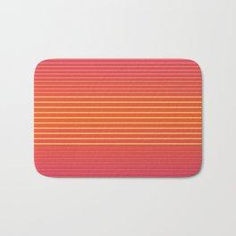 Strong Stripes (vermilion orange) Bath Mat