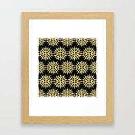 Bijoux Mandala Sunburst Framed Art Print