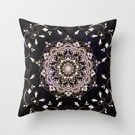 Mandala Serenity Spiritual Zen Bohemian Hippie Indian Yoga Mantra Meditation Throw Pillow