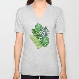 Tropical leaves III Unisex V-Neck