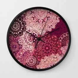 Terra Rose Mandalas Wall Clock