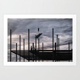 Iron Workers, Canandaigua 2015 Art Print