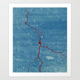 Red Lightening Art Print