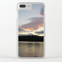 Hudson Sunset Clear iPhone Case
