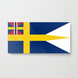 Naval Ensign of Sweden, 1844-1905  Metal Print