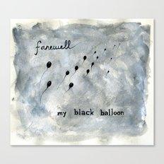 Black Balloon Canvas Print