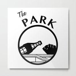 The Park (Black) Metal Print