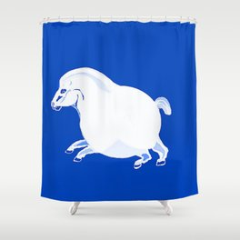 Fat Horse Shower Curtain