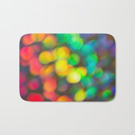 Rainbow Bokeh 1 Bath Mat