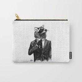 Dapper Raccoon Carry-All Pouch