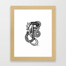 Jormungandr Framed Art Print
