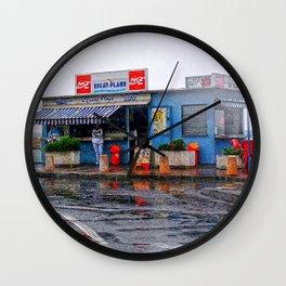 Rainy Beach Bar Cote d´Azur Wall Clock