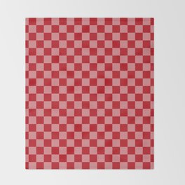 Holly Berry Checkerboard Throw Blanket