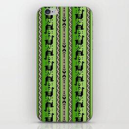 Llamas_Green and WarmGray iPhone Skin