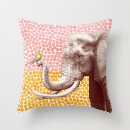 New Friends 2 by Eric Fan and Garima Dhawan Throw Pillow