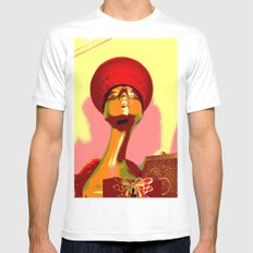 Vintage: The Zulu Hat MEDIUM Mens Fitted Tee White