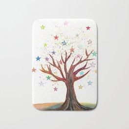 Star Tree Illustration Art Bath Mat