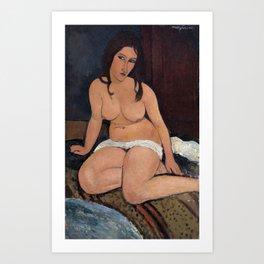 Amedeo Modigliani - Nudo seduto Art Print
