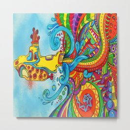 The Yellow Submarine Metal Print
