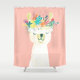Llama Goddess Shower Curtain