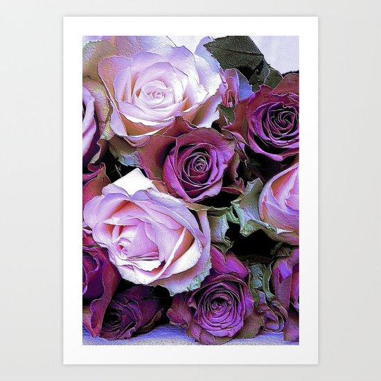 Romantic Roses Art Print