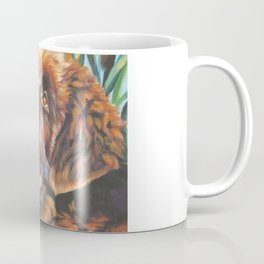 brown Newfoundland dog portrait art from an original painting by L.A.Shepard Coffee Mug