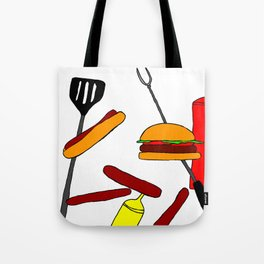 Burgers and Dogs Tote Bag